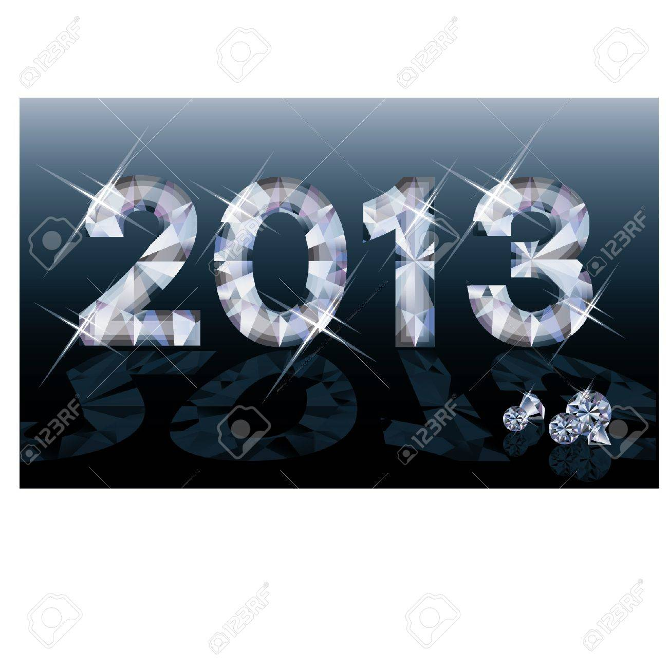 Diamond 2013 New year banner, vector illustration Stock Vector - 15090130