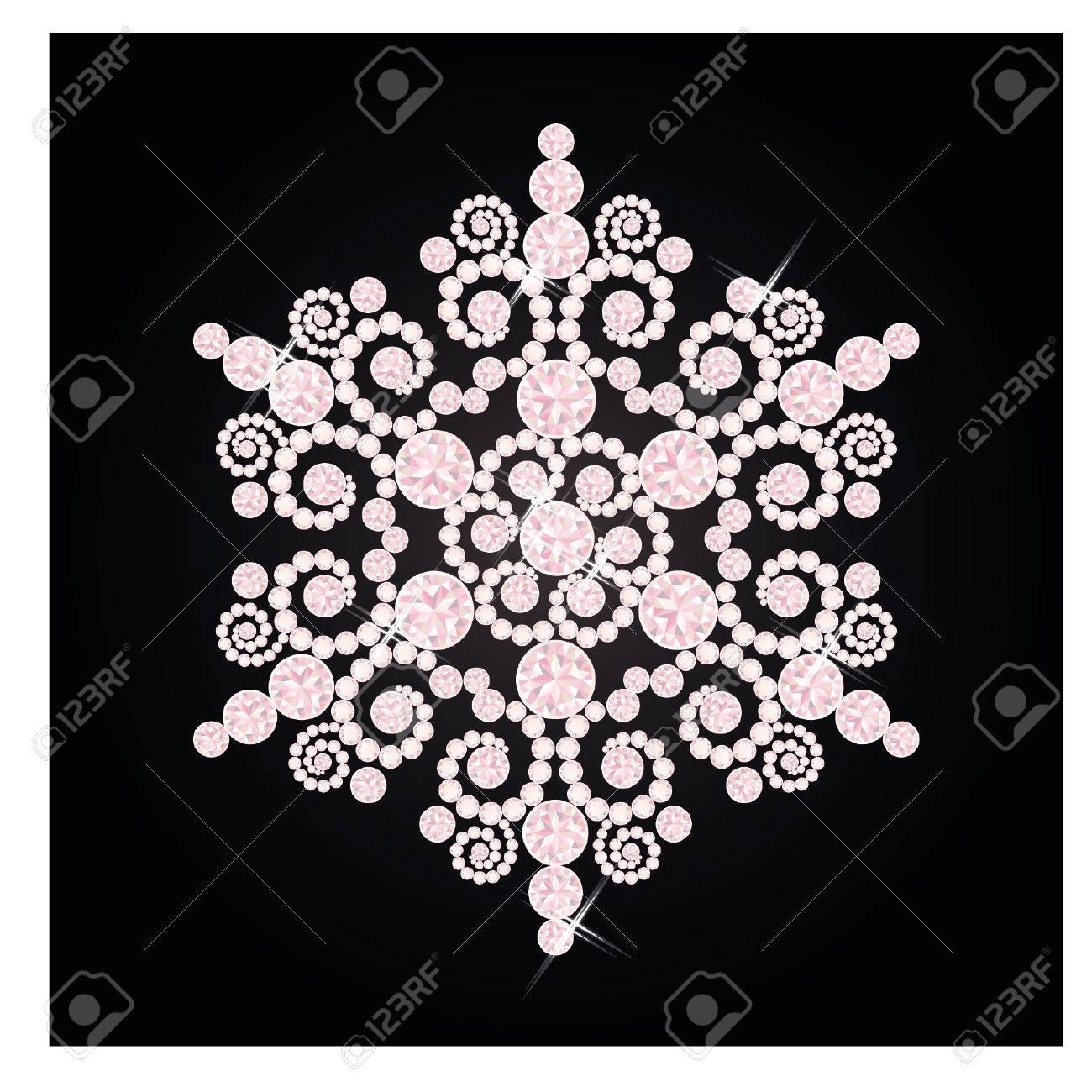 Diamond snowflake, vector illustration Stock Vector - 16693001