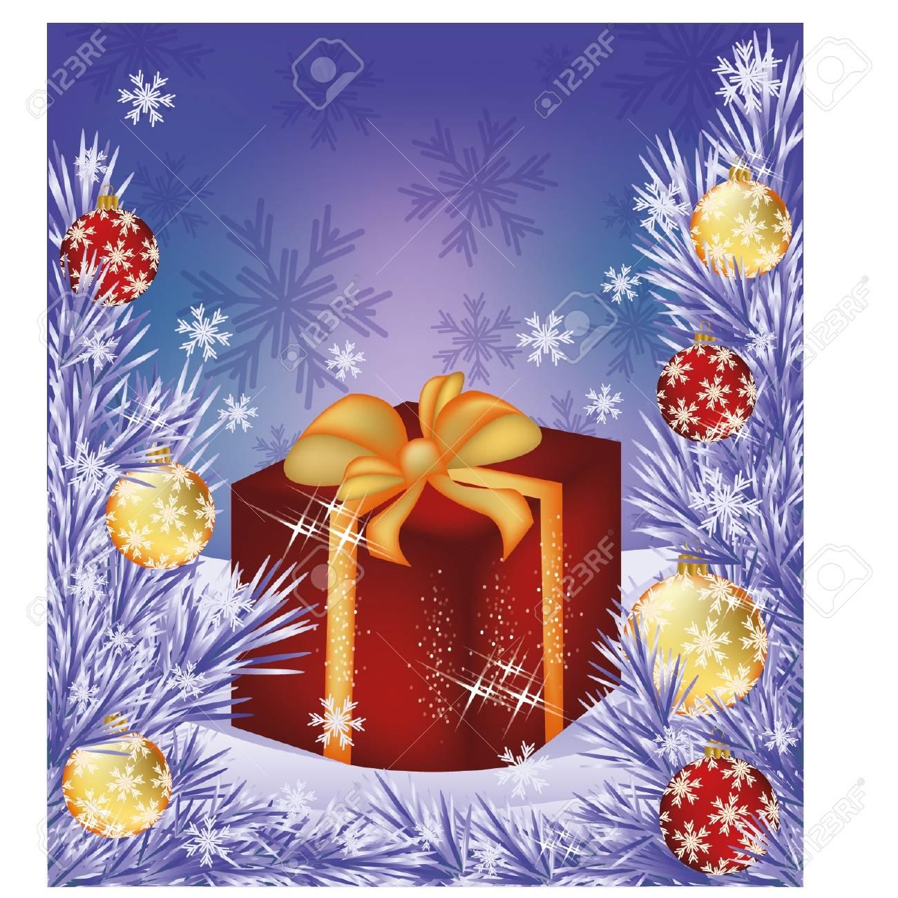 Christmas Sale Card Shop Box Present Royalty Free Cliparts Vectors
