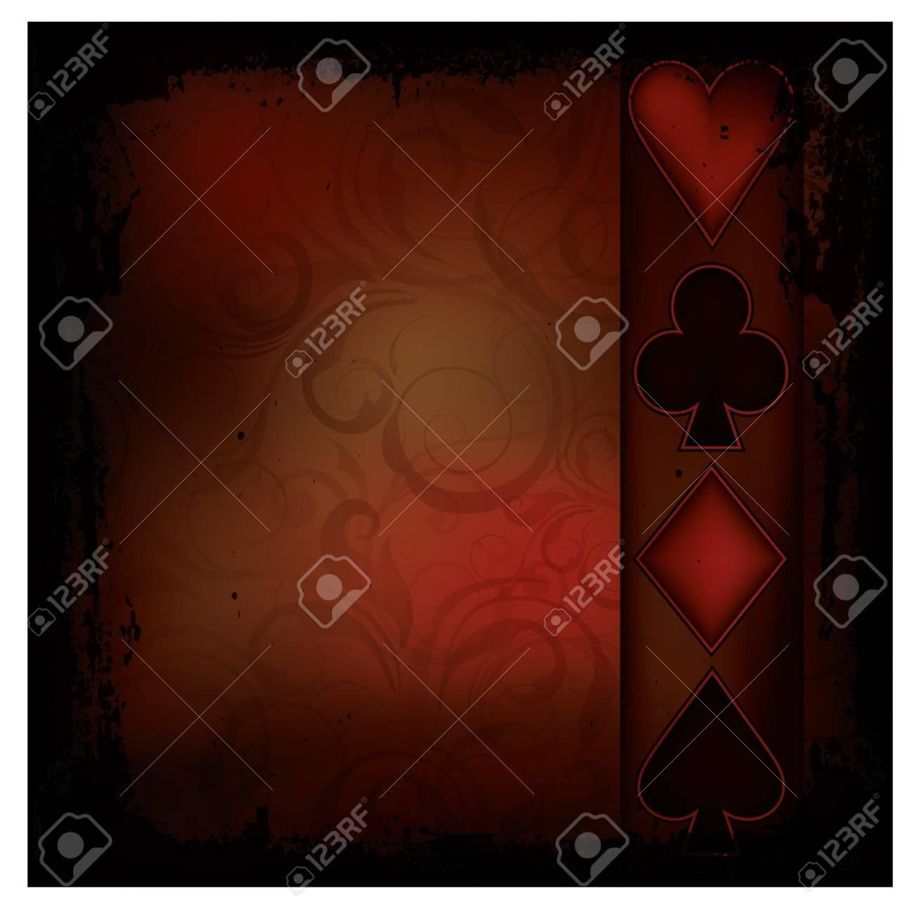 Retro Poker background, vector illustration Stock Vector - 17359205