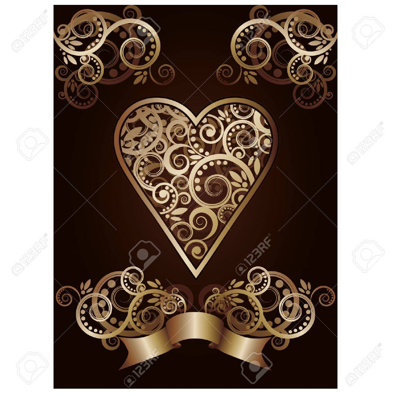 Heart  ace poker playing cards, illustration Stock Vector - 17714117