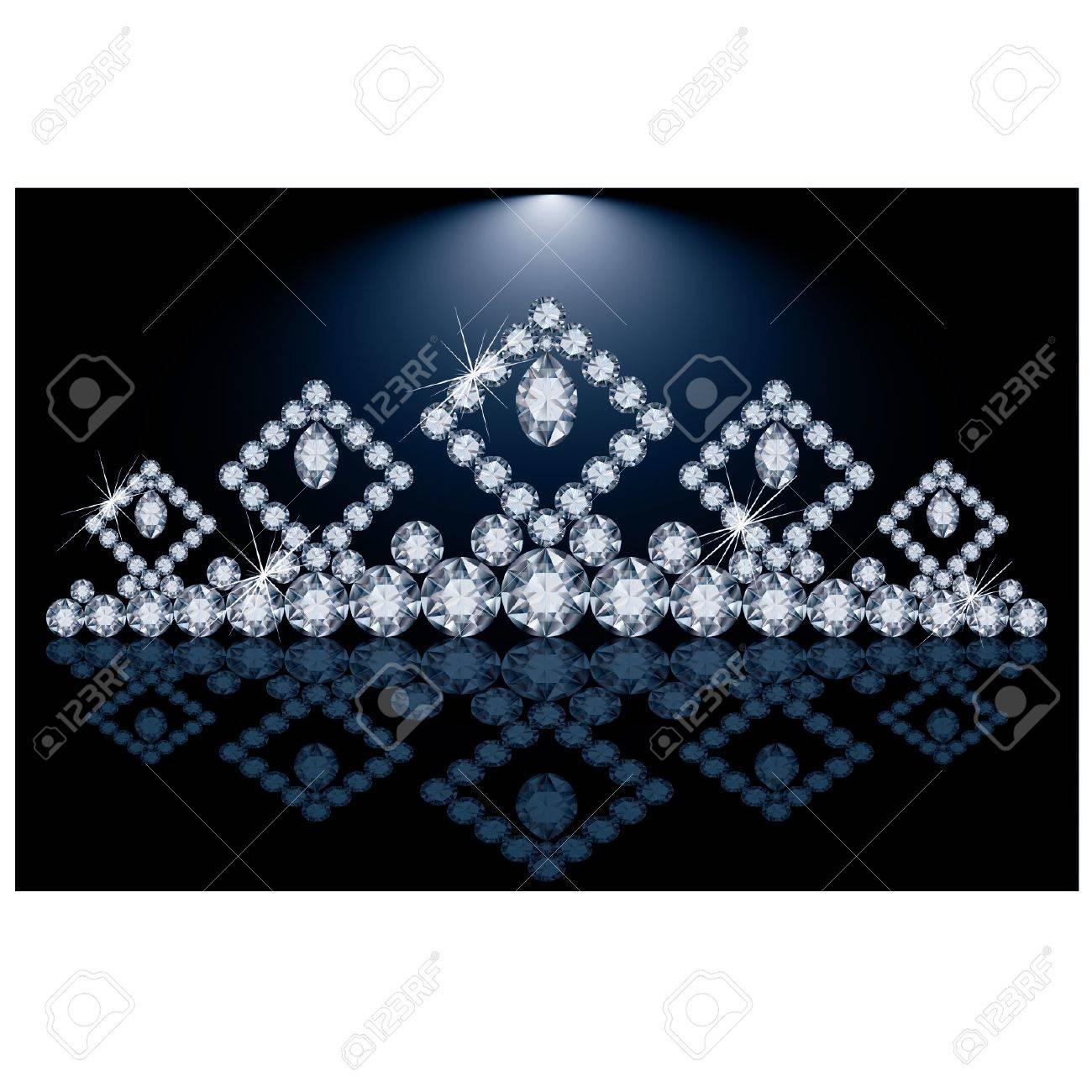 Pretty diamond princess diadem, vector illustration Stock Vector - 20773445