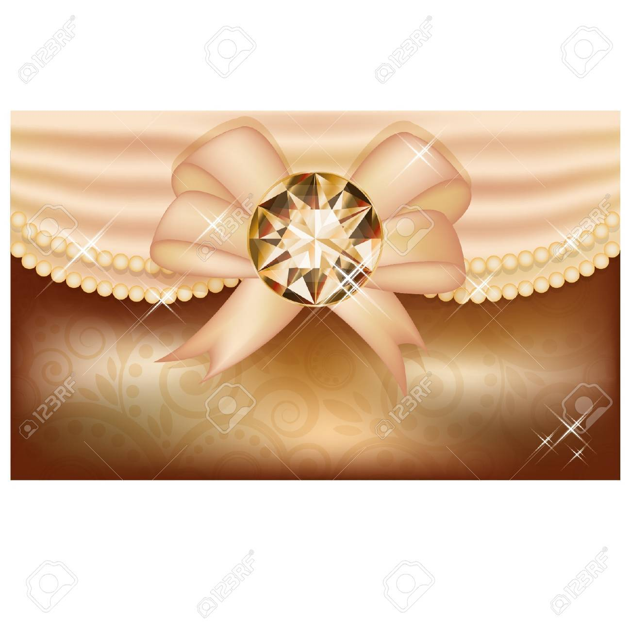 Invitation card with diamond and ribbon vector illustration royalty invitation card with diamond and ribbon vector illustration stock vector 21635372 stopboris Image collections