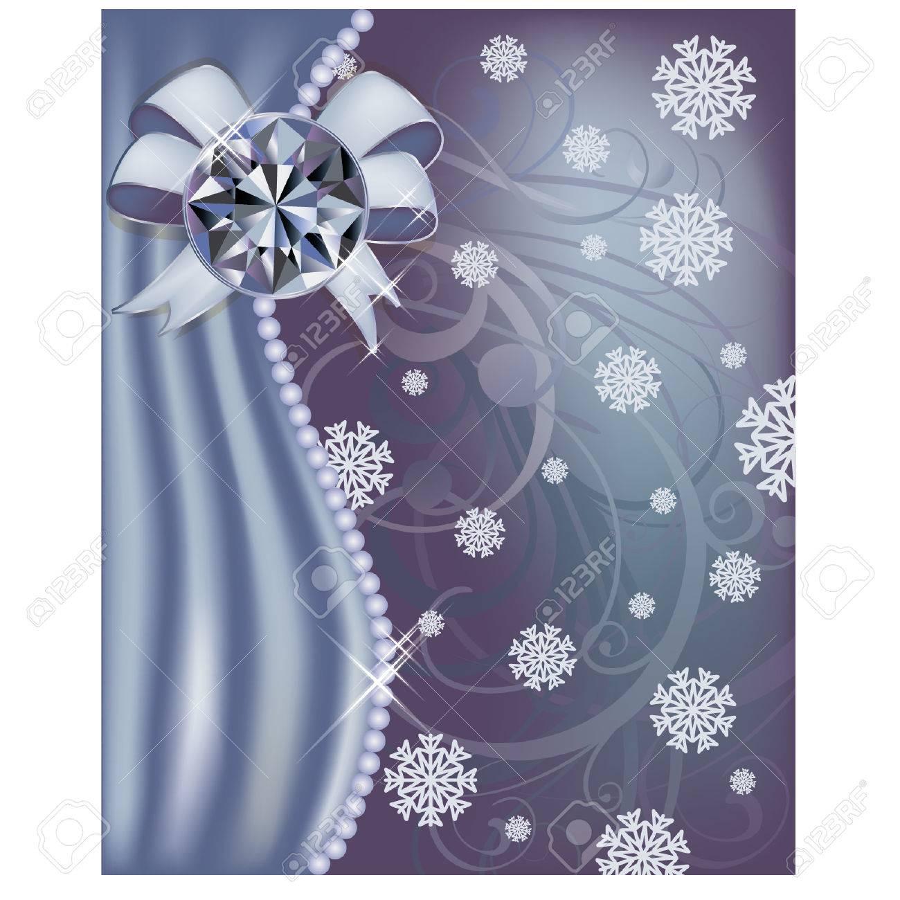 Winter diamond banner, vector illustration Stock Vector - 23080656
