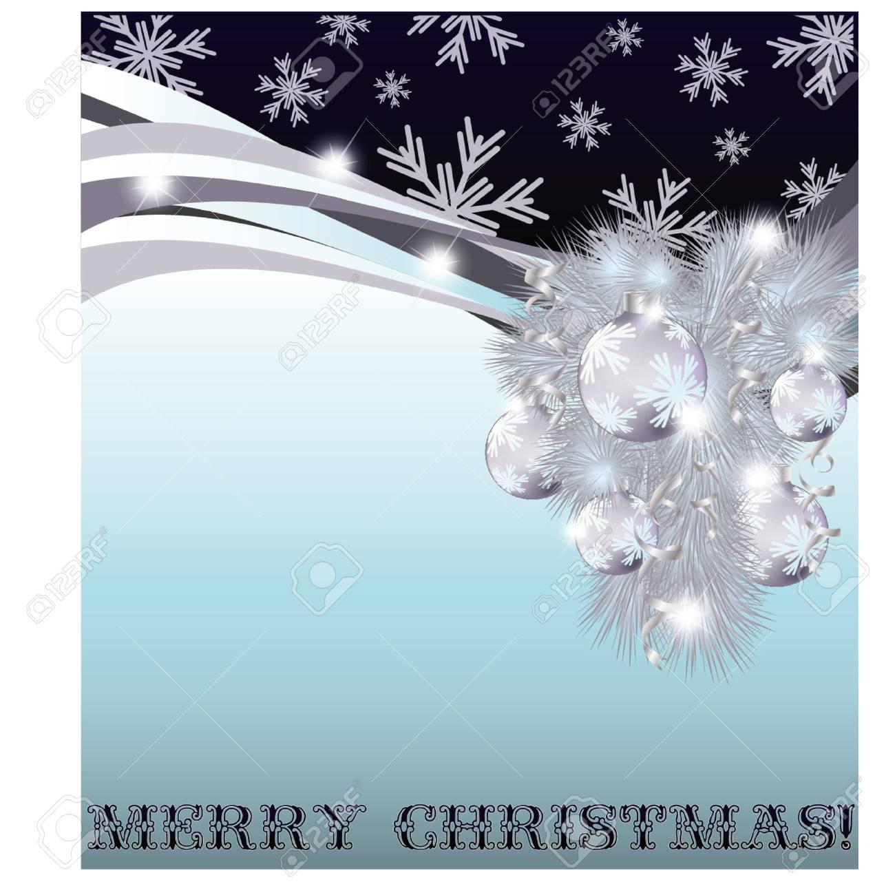 Merry Christmas Invitation Card Vector Illustration
