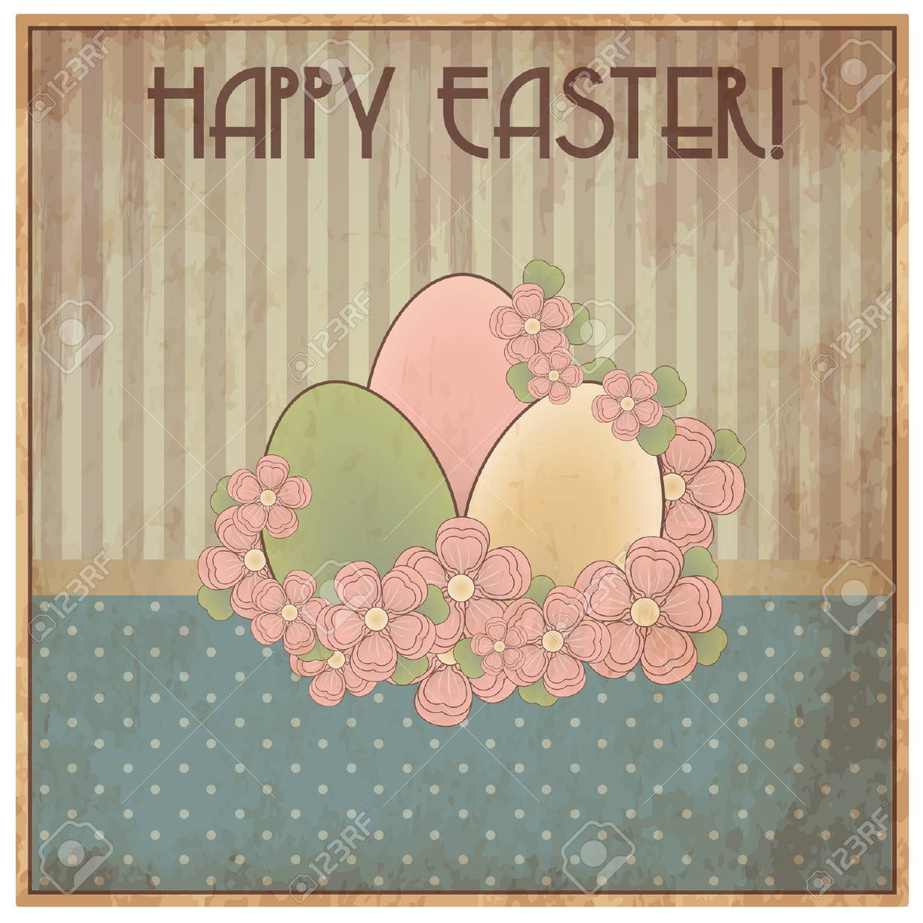 Happy easter old invitation card vector illustration royalty free happy easter old invitation card vector illustration stock vector 38608650 stopboris Choice Image
