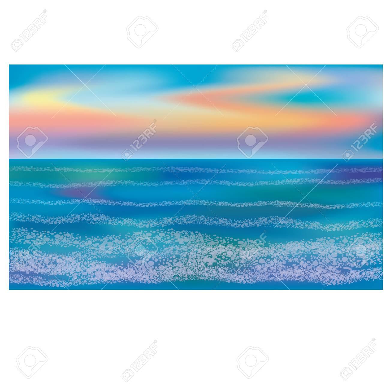 海の壁紙 ベクター画像のイラスト素材 ベクタ Image 74408536