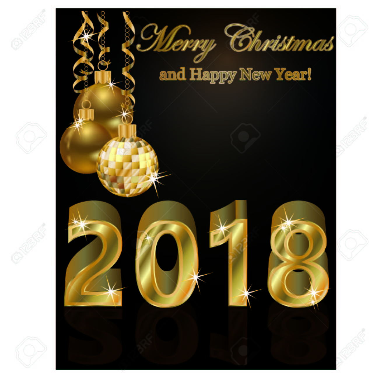 happy new year 2018 golden wallpaper design illustration stock vector 88203282