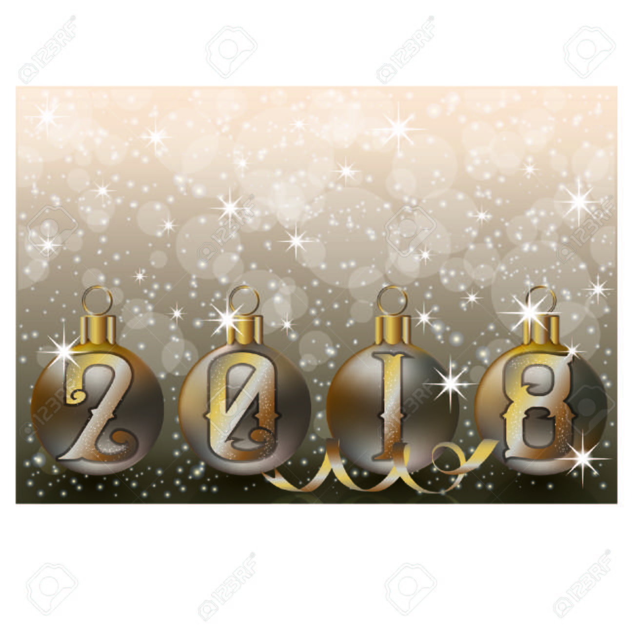 merry christmas and happy 2018 new year wallpaper vector illustration stock vector 89018746