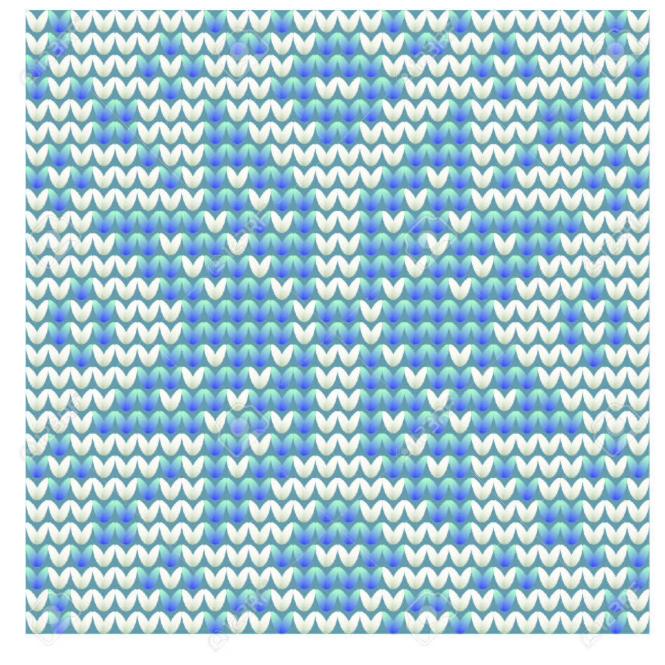 Knitted Snowflake Winter Pattern Vector Illustration Royalty Free
