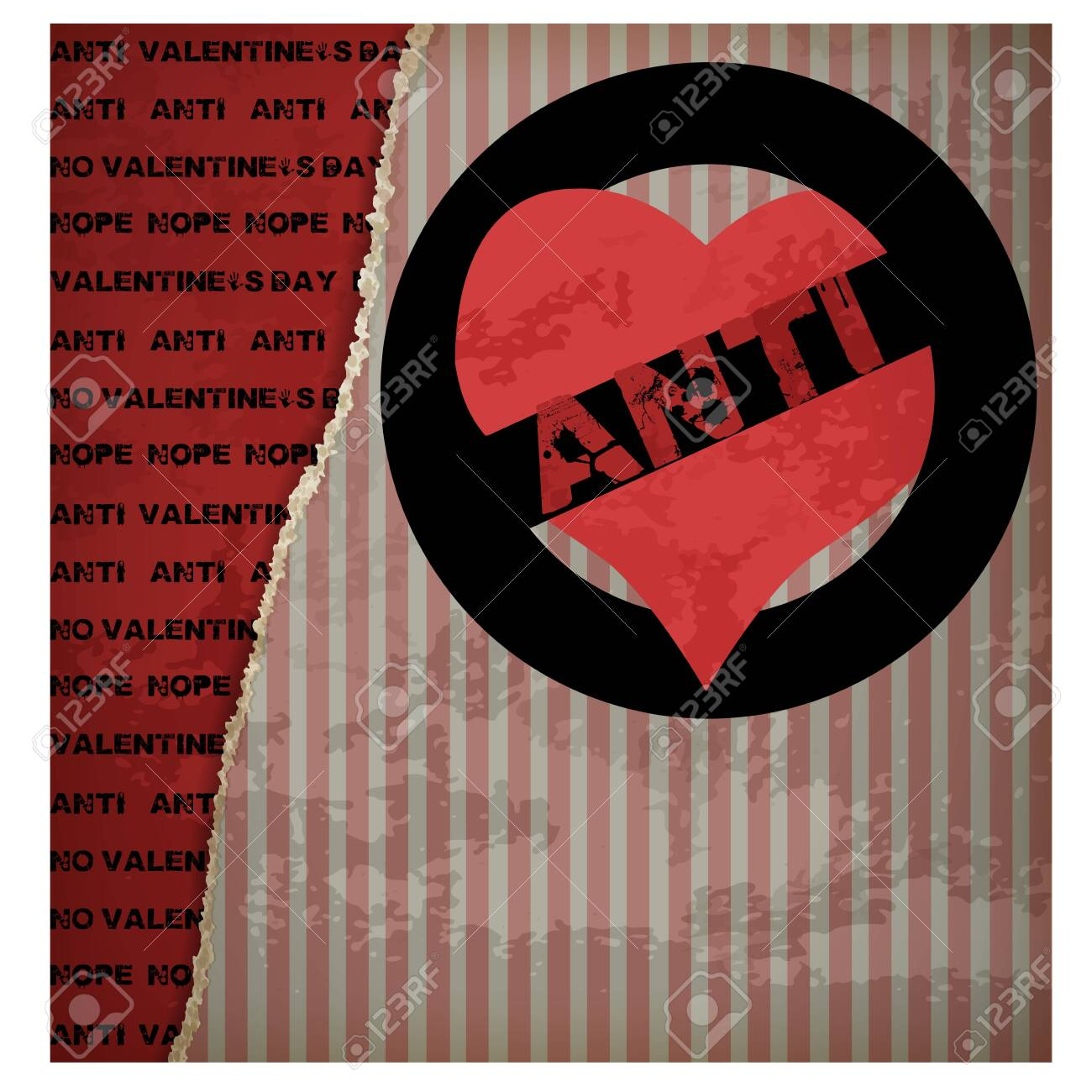 Anti Valentine S Day Background Vector Illustration Royalty Free Cliparts Vectors And Stock Illustration Image 137682179