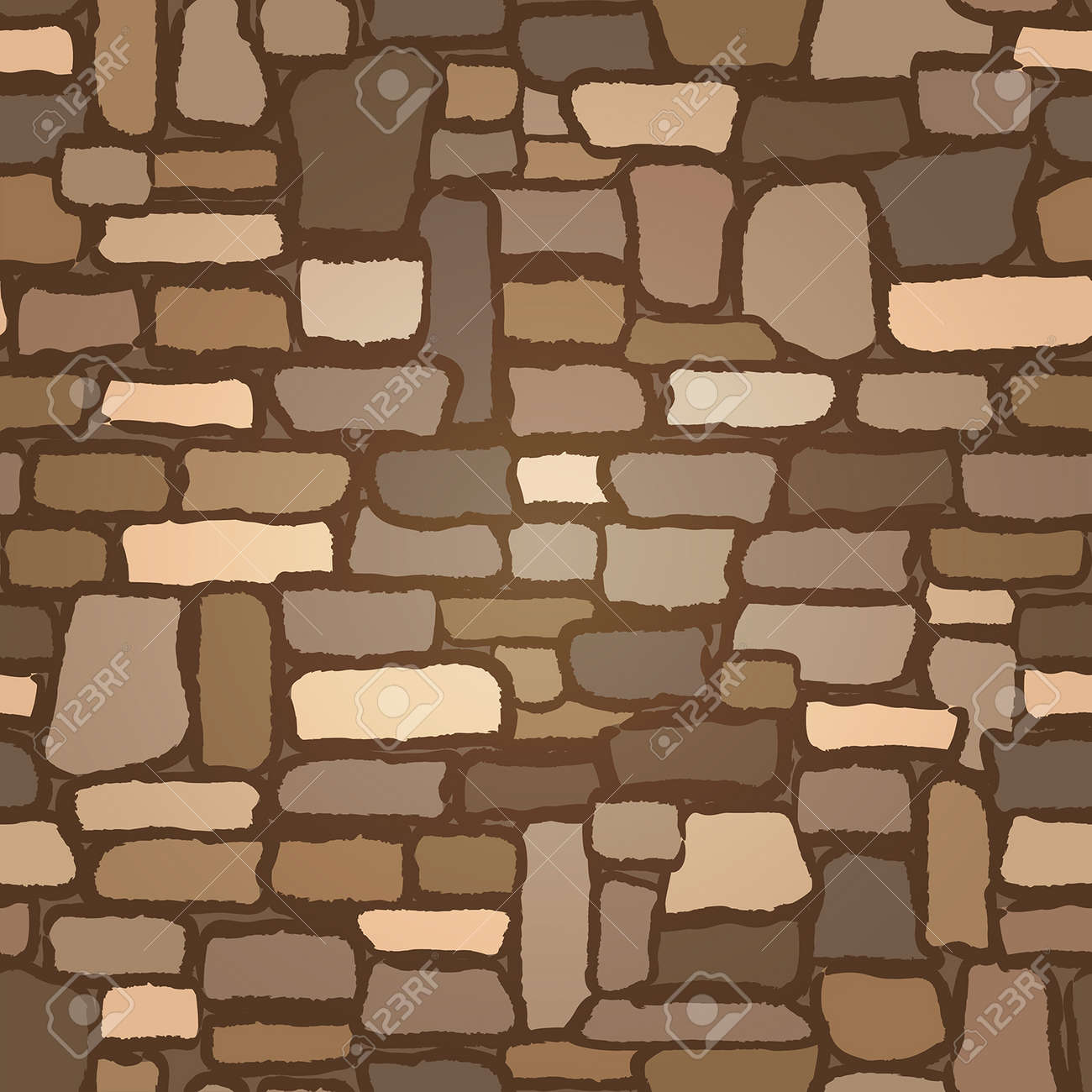 Stone Castle Wall background seamless , vector illustration - 168222461