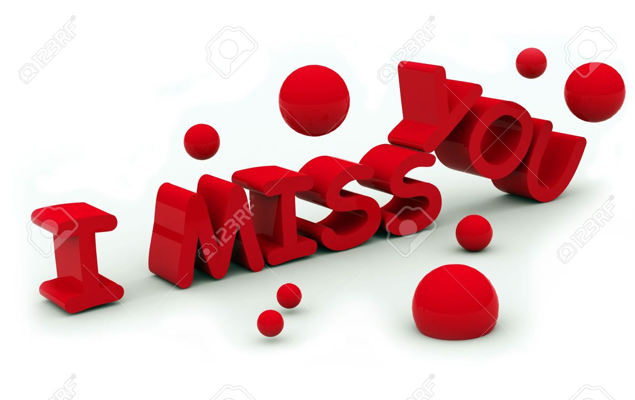 I Miss You Text On White Background Stock Photo Picture And Royalty