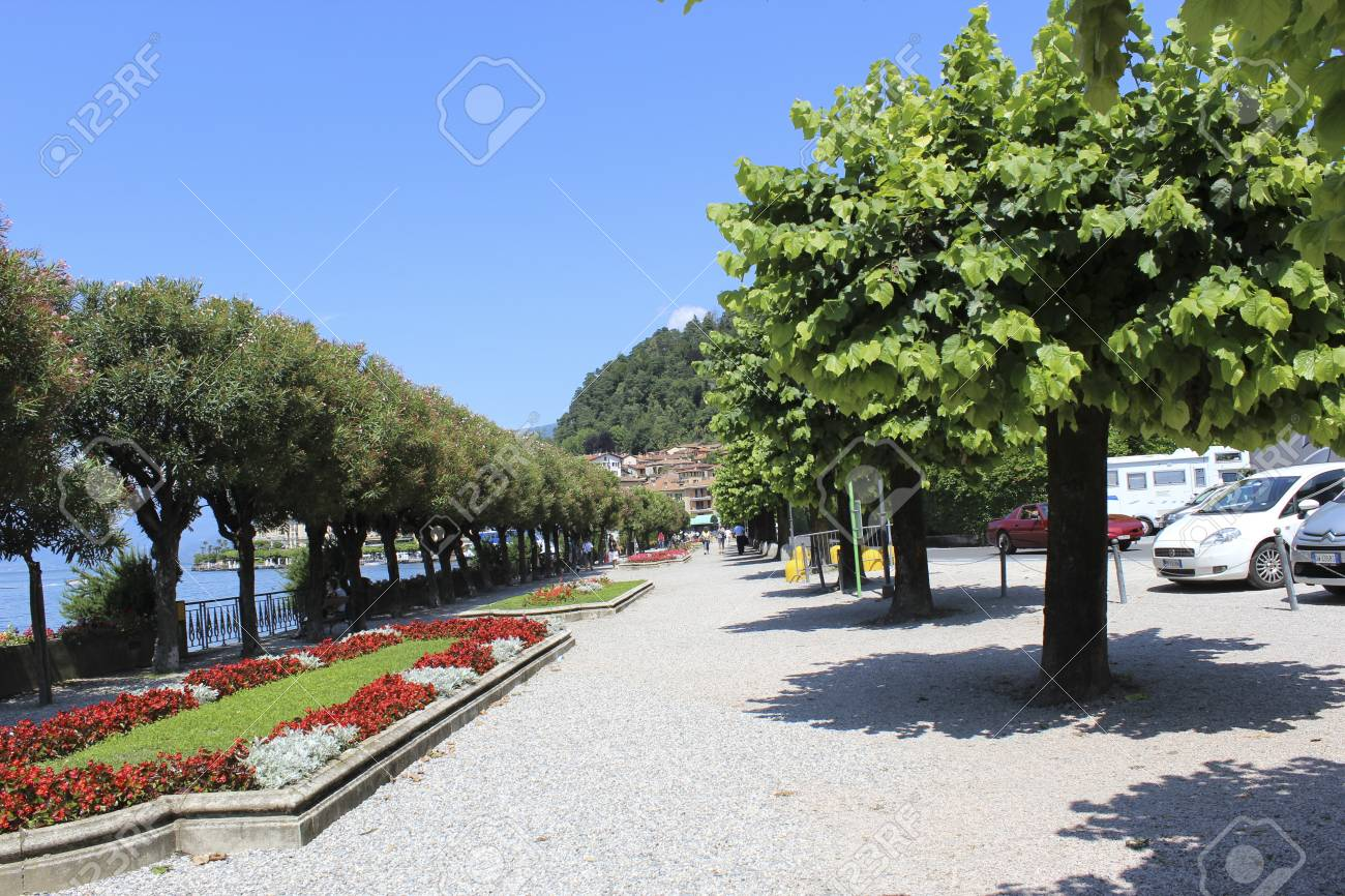 A path in Bellagio, Como Lake, near Villa Melzi Gardens
