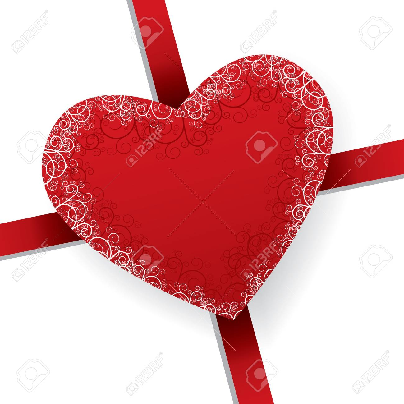 closeup of shiny heart on valentines day present Stock Vector - 7819285