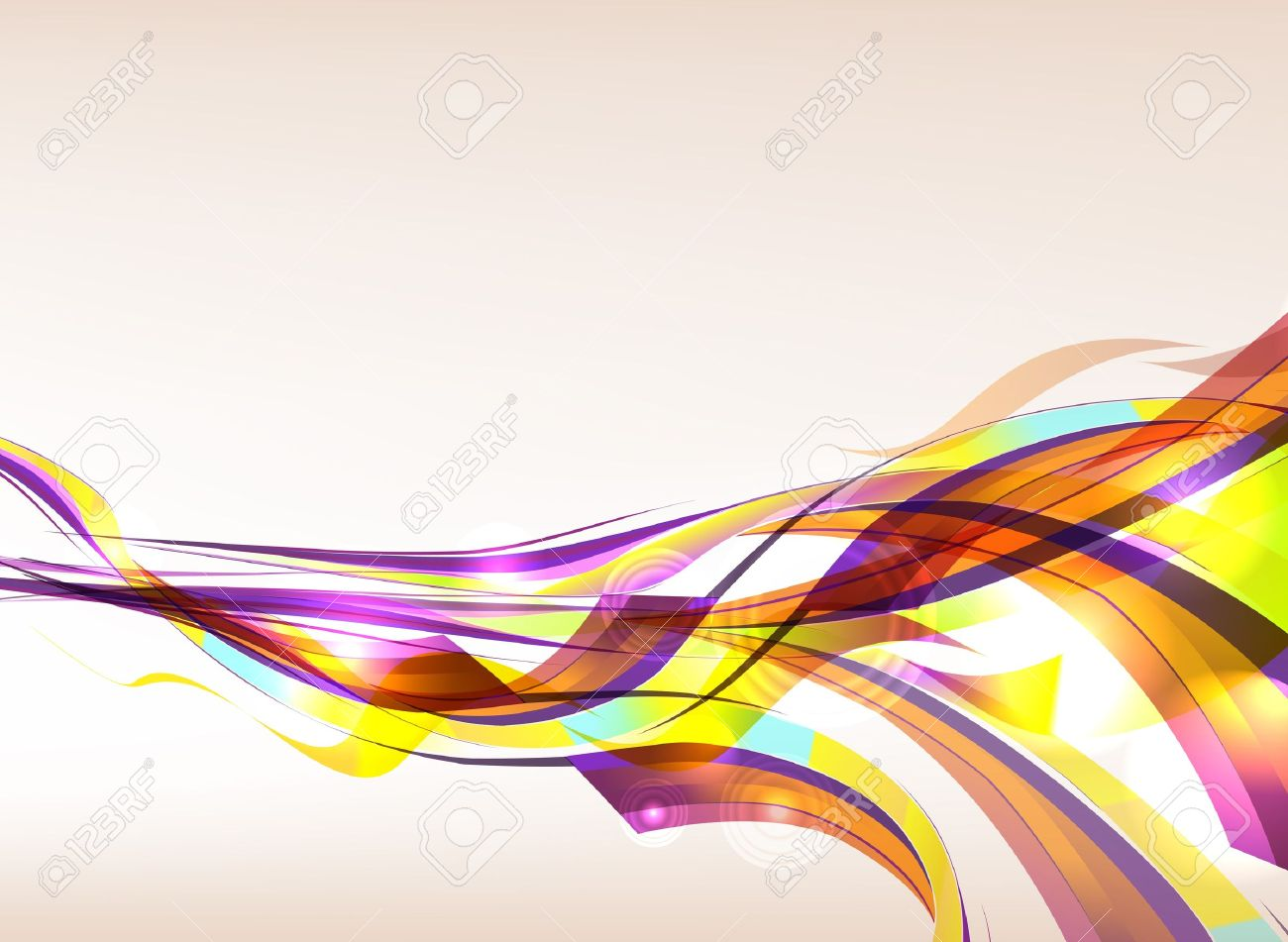 Abstract colorful background flow. Eps 10 transparences used on other than normal mode. Gradient mesh used. Stock Vector - 12494974
