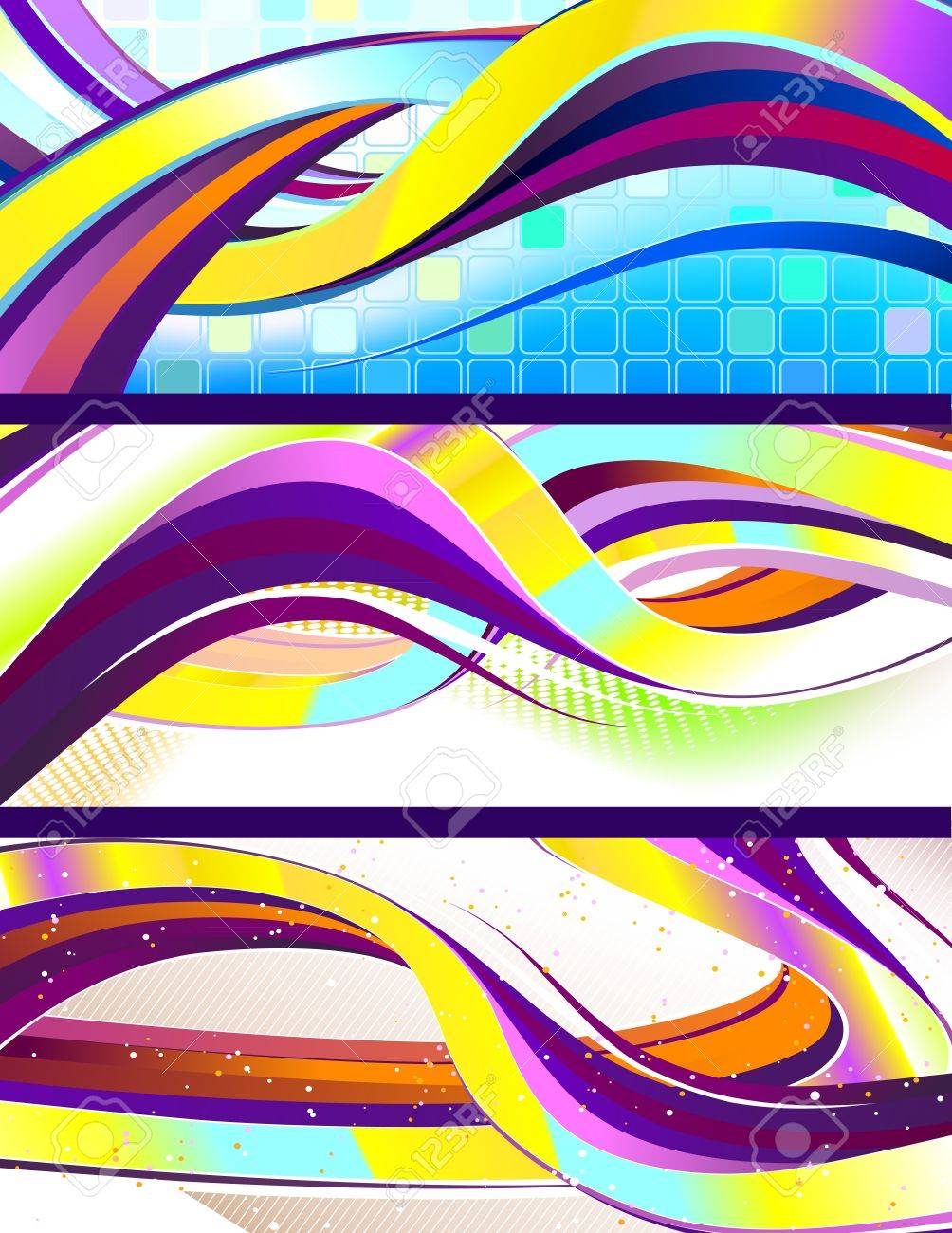 Stylish flowing abstract banners. No transparencies used. Gradient mesh used. Stock Vector - 12494980