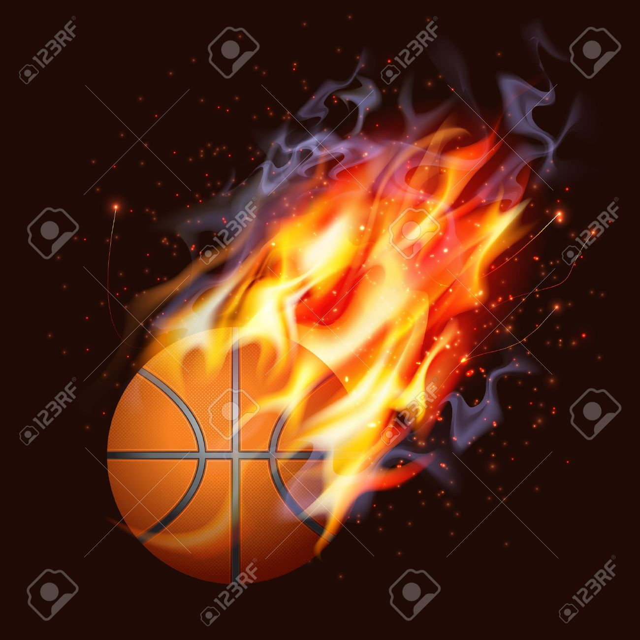 Basketball Clipart Fire - Free Transparent PNG Download - PNGkey