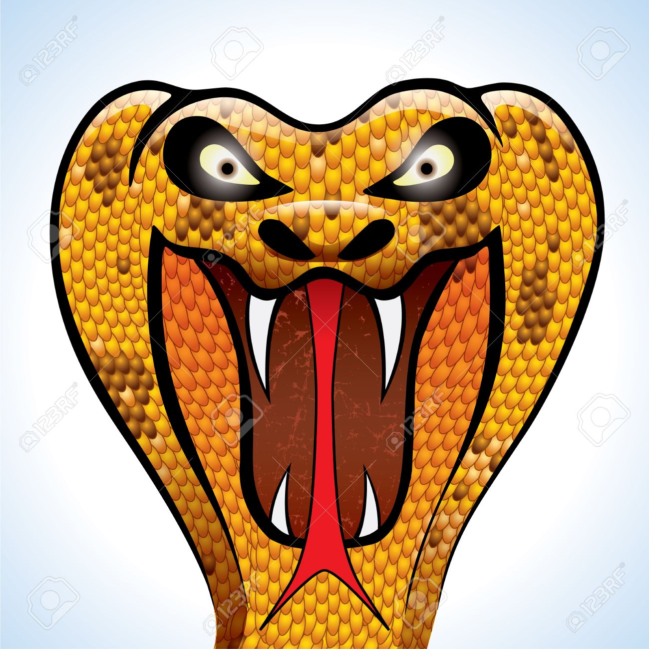 highly detailed and terrifying cobra head Stock Vector - 12987621