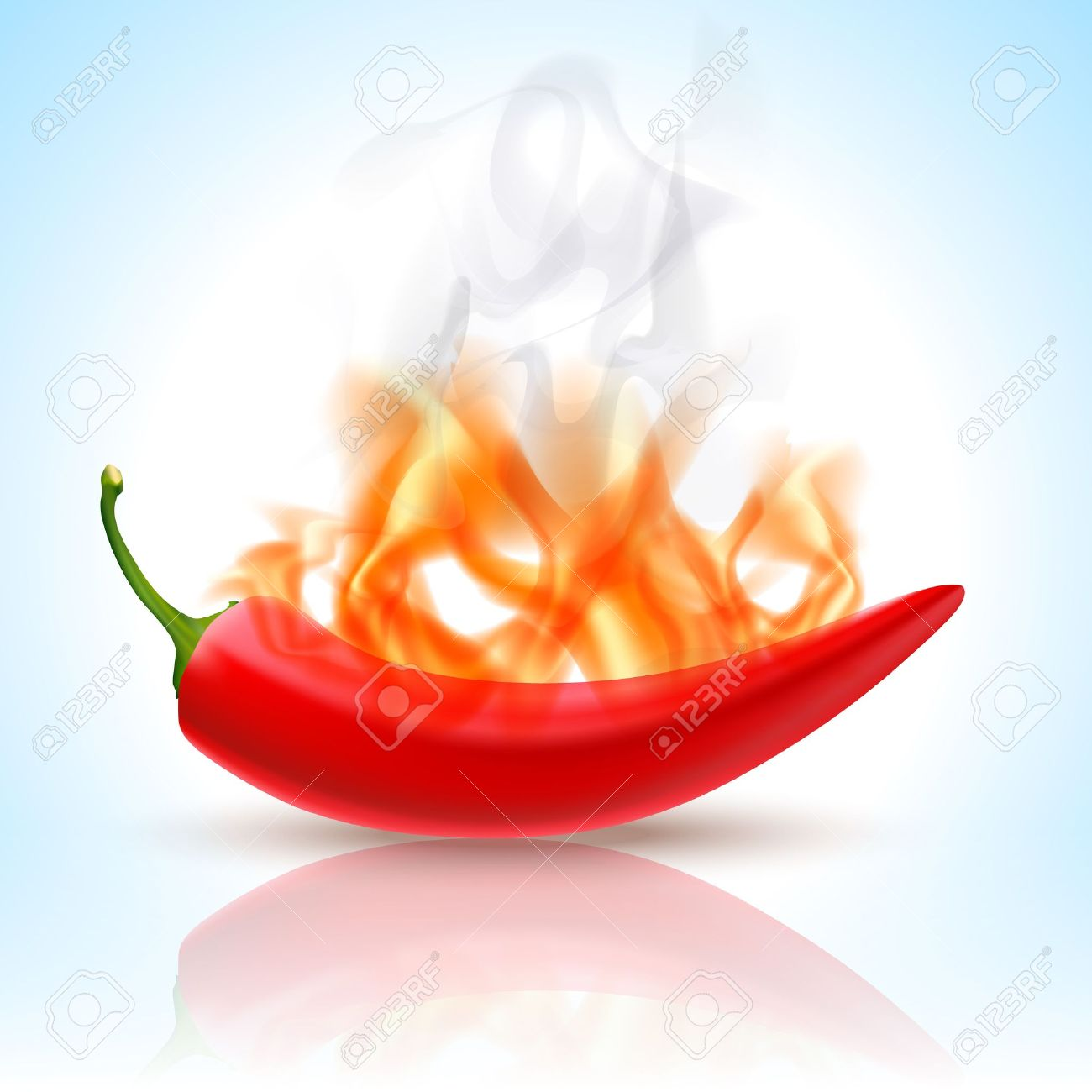 913192f55989 Burning Red Chili Pepper Stock Vector - 12987609