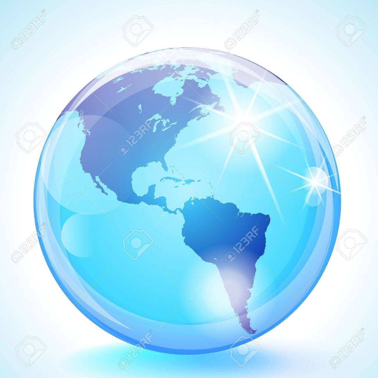 Blue marble globe showing the Pacific Ocean, the Americas and the Atlantic Ocean. Stock Vector - 13109448
