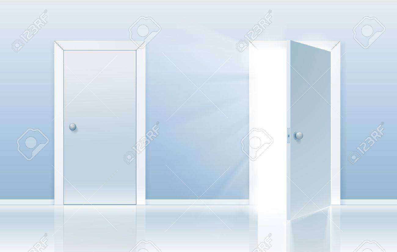 Open door closed door - Open And Closed Door Concept One Door Is Closed And The Other One Is Opening Up