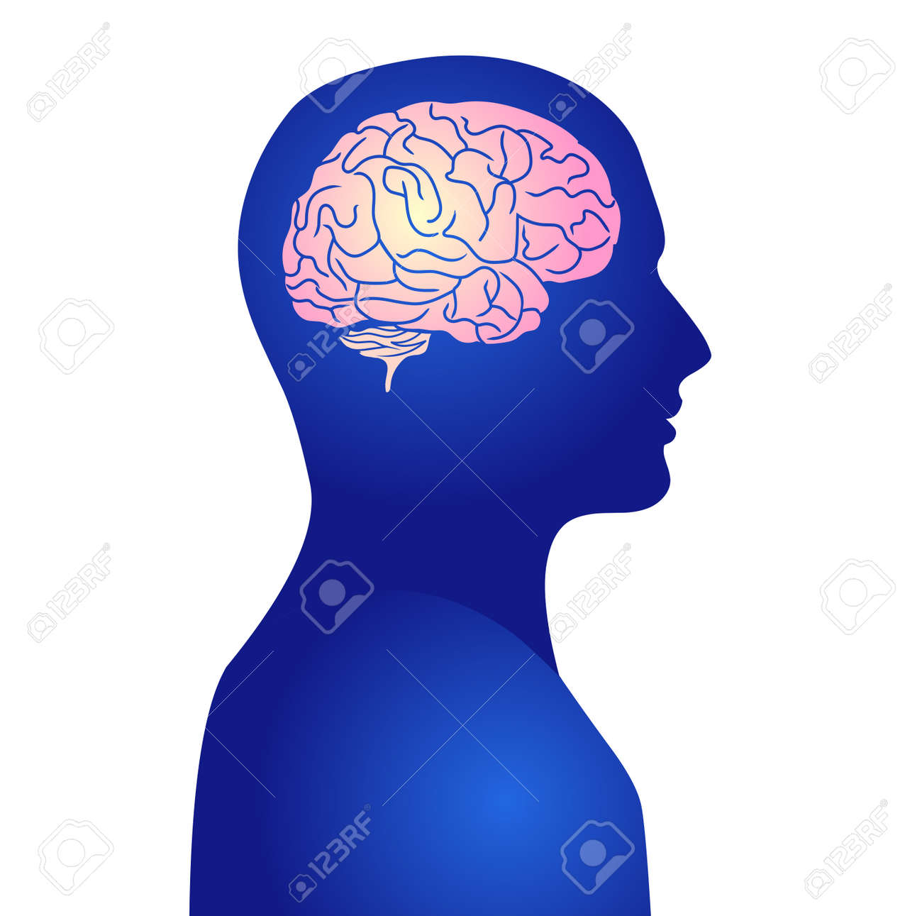 Human active brain vector illustration - 169091564