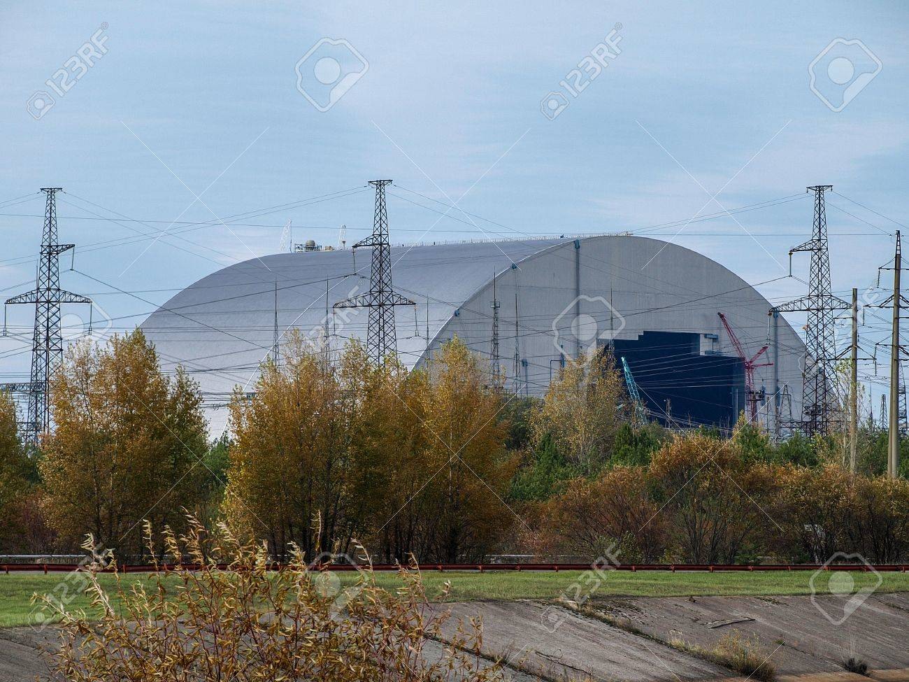 New sarcophagus for the reactor block 4 of the Chernobyl nuclear