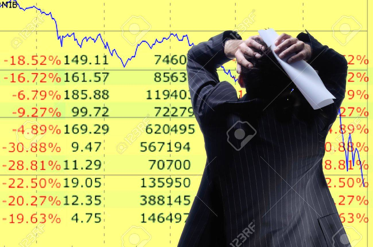 diagram of  global recession Stock Photo - 9110107