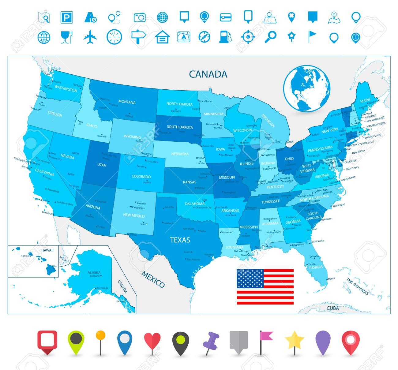 Nett Färbung Karte Von Usa Zeitgenössisch - Entry Level Resume ...