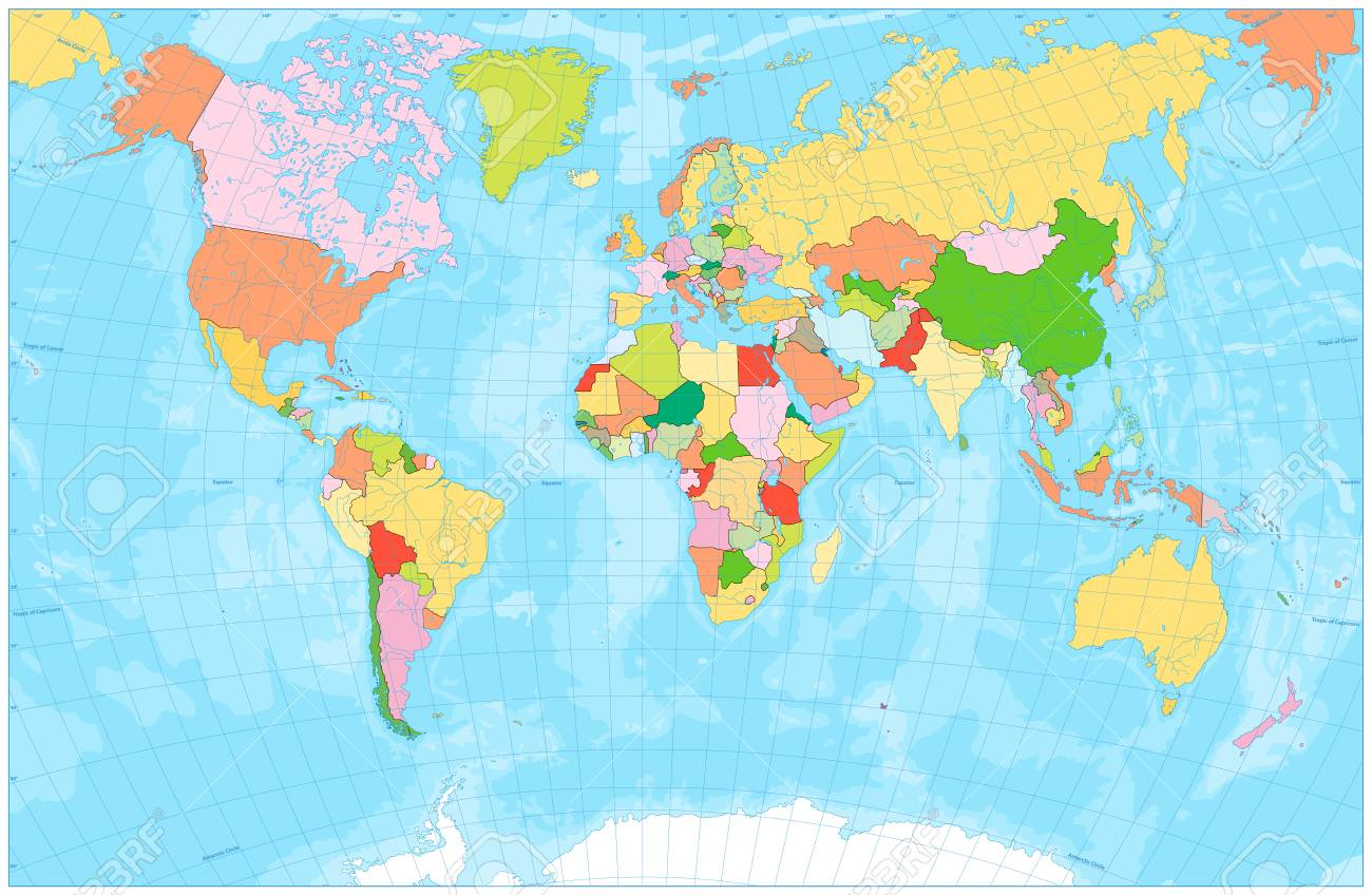 Image of: Zip Code Map World Map With Rivers Seas And Oceans