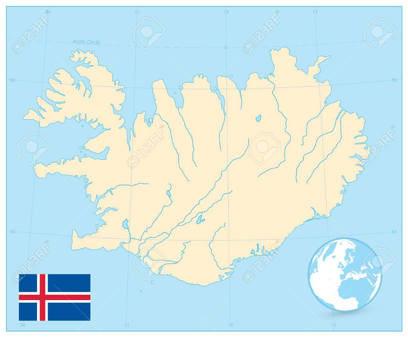 Iceland Map. No Text. Vector Illustration. Lizenzfreie Fotos, Bilder ...
