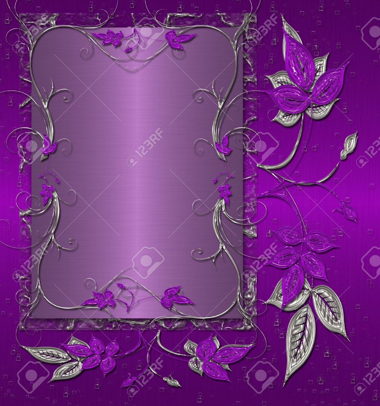 purple floral shine with silver background stock photo picture and rh 123rf com purple and silver hair purple and silver dress