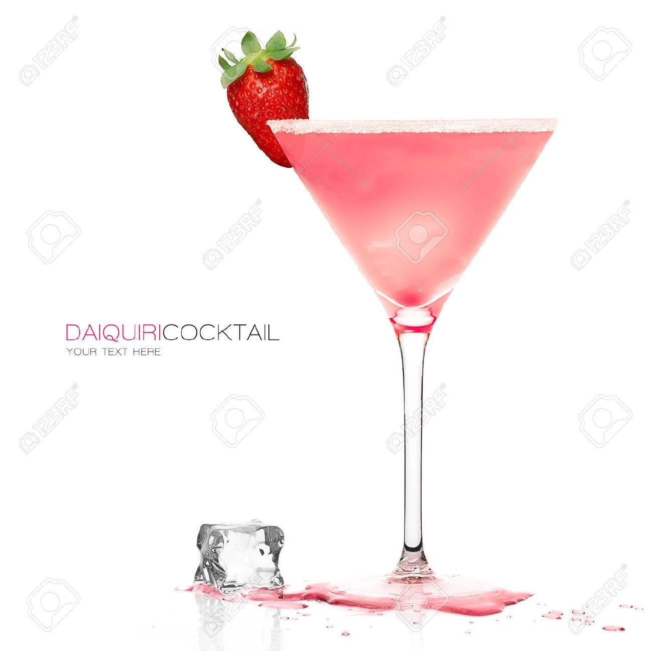 Daiquiri frozen cocktail in a stylish martini glass garnished - 43565467