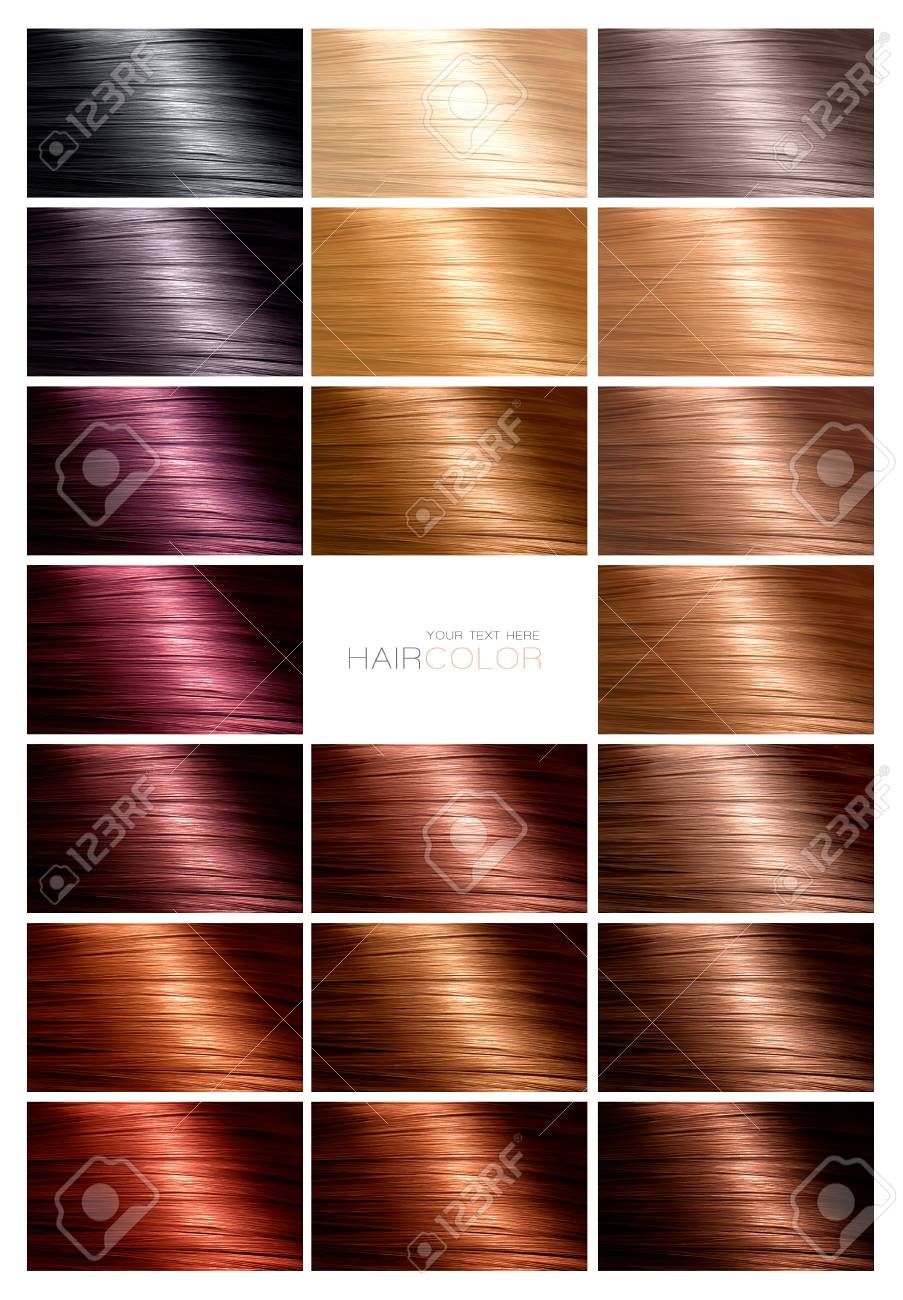 Hair Color Palette With A Range Of Swatches Showing The Different
