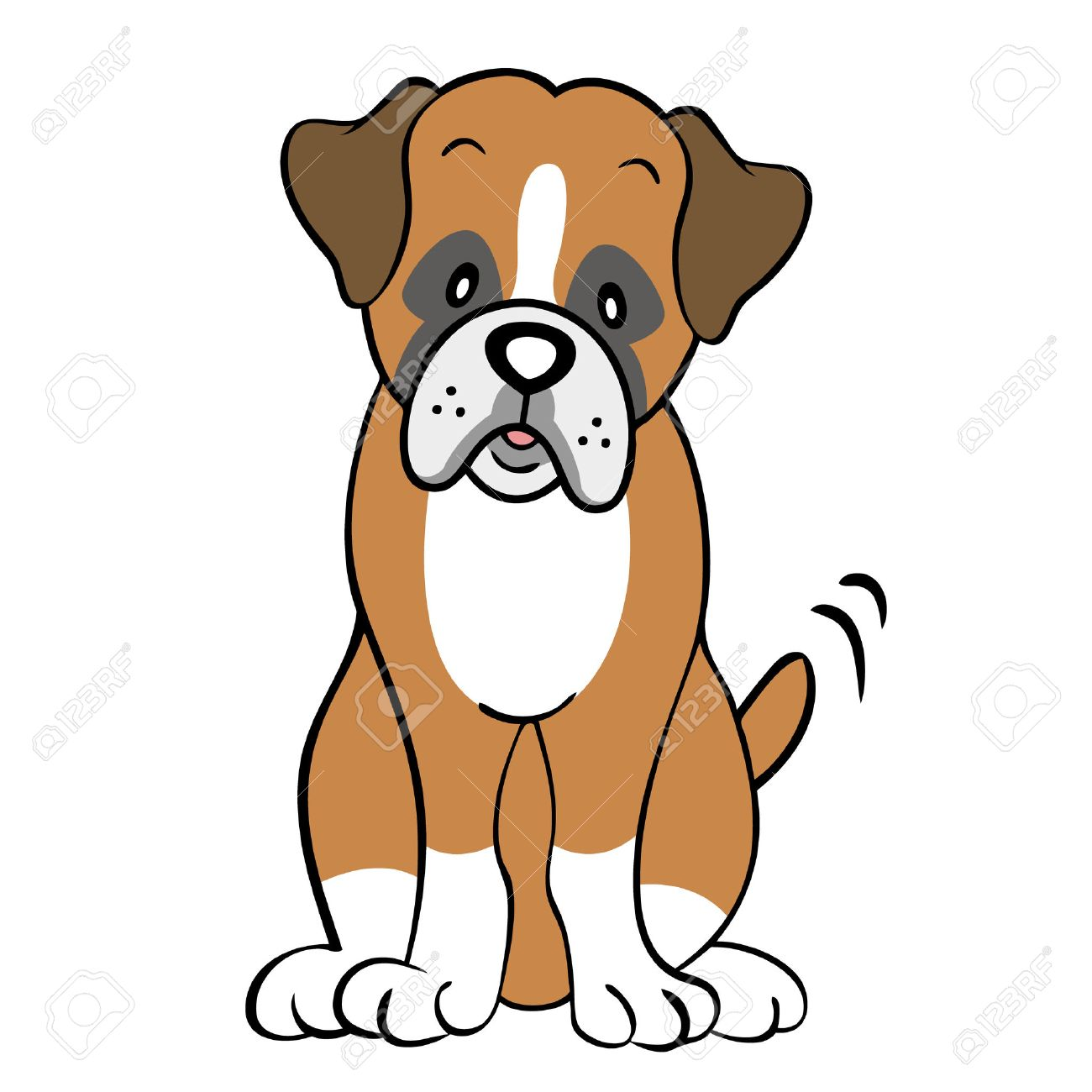 boxer dog isolated royalty free cliparts vectors and stock rh 123rf com boxer dog clipart black and white boxer dog clip art free