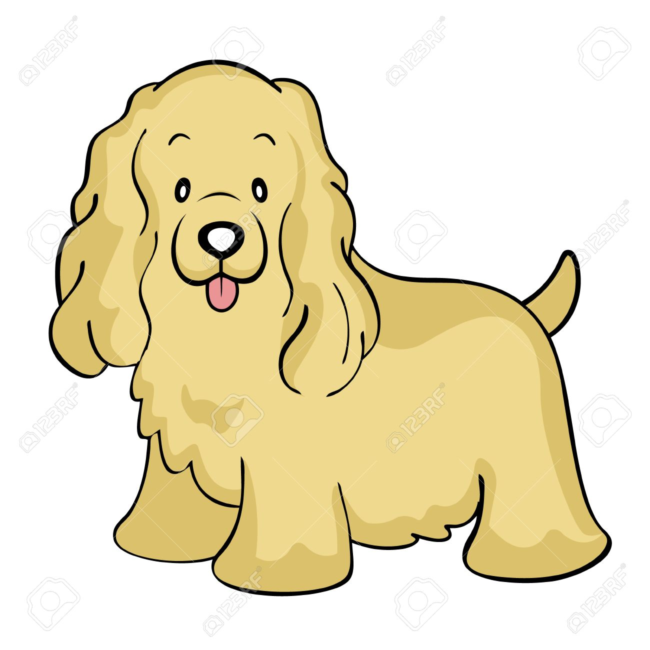 Cocker Spaniel Buff Isolated Royalty Free Cliparts, Vectors, And ...