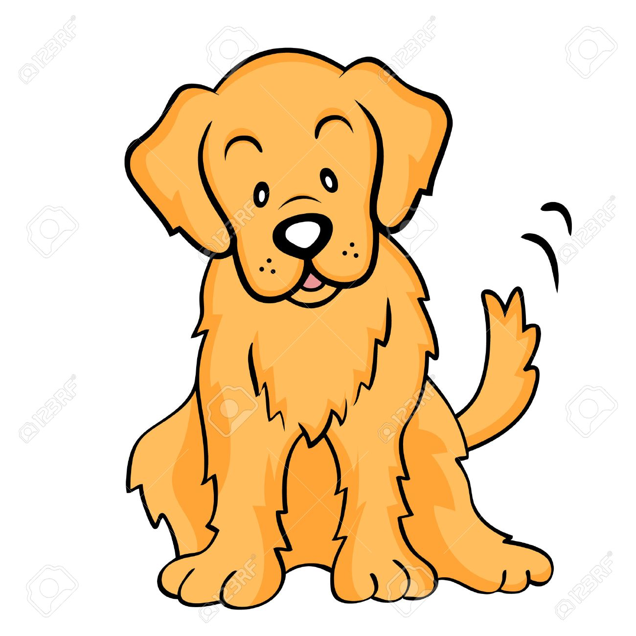 Golden Retriever Isolated Royalty Free Cliparts Vectors And Stock