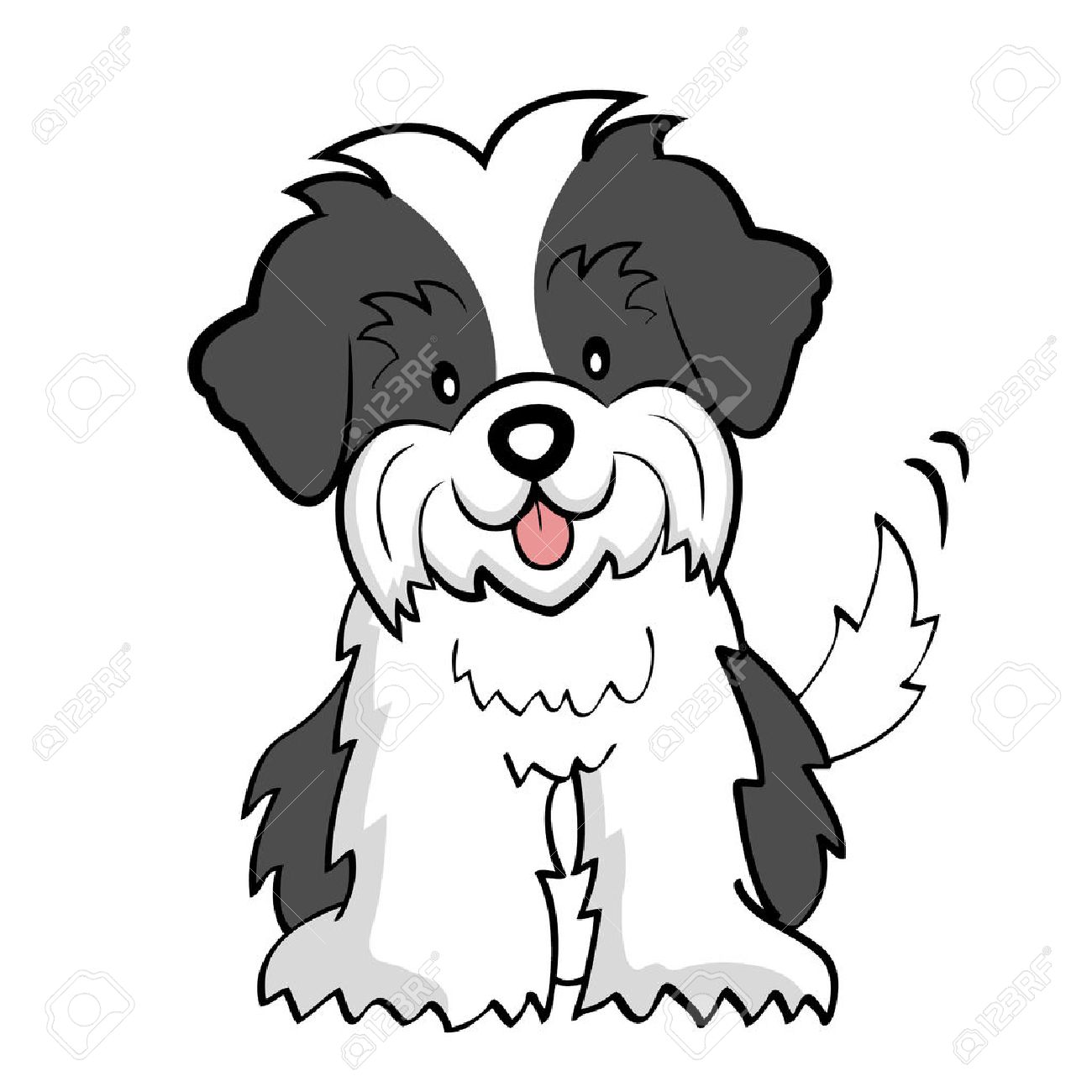 Puppy Cut Shih Tzu Isolated Royalty Free Cliparts Vectors And