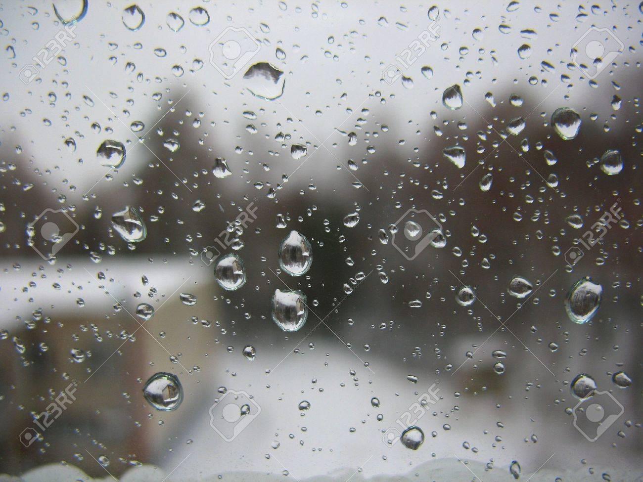 Det Finns Fönster Glas Och Regndroppar Royalty-Fria Stockfoton ... : fönsterglas : Fönster