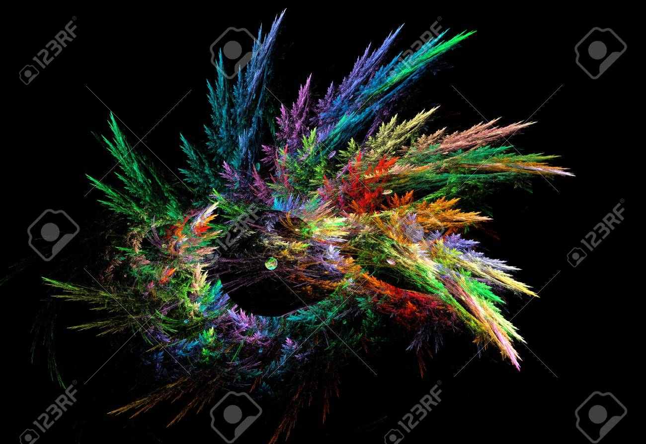 抽象的な色とりどりのフラクタル...