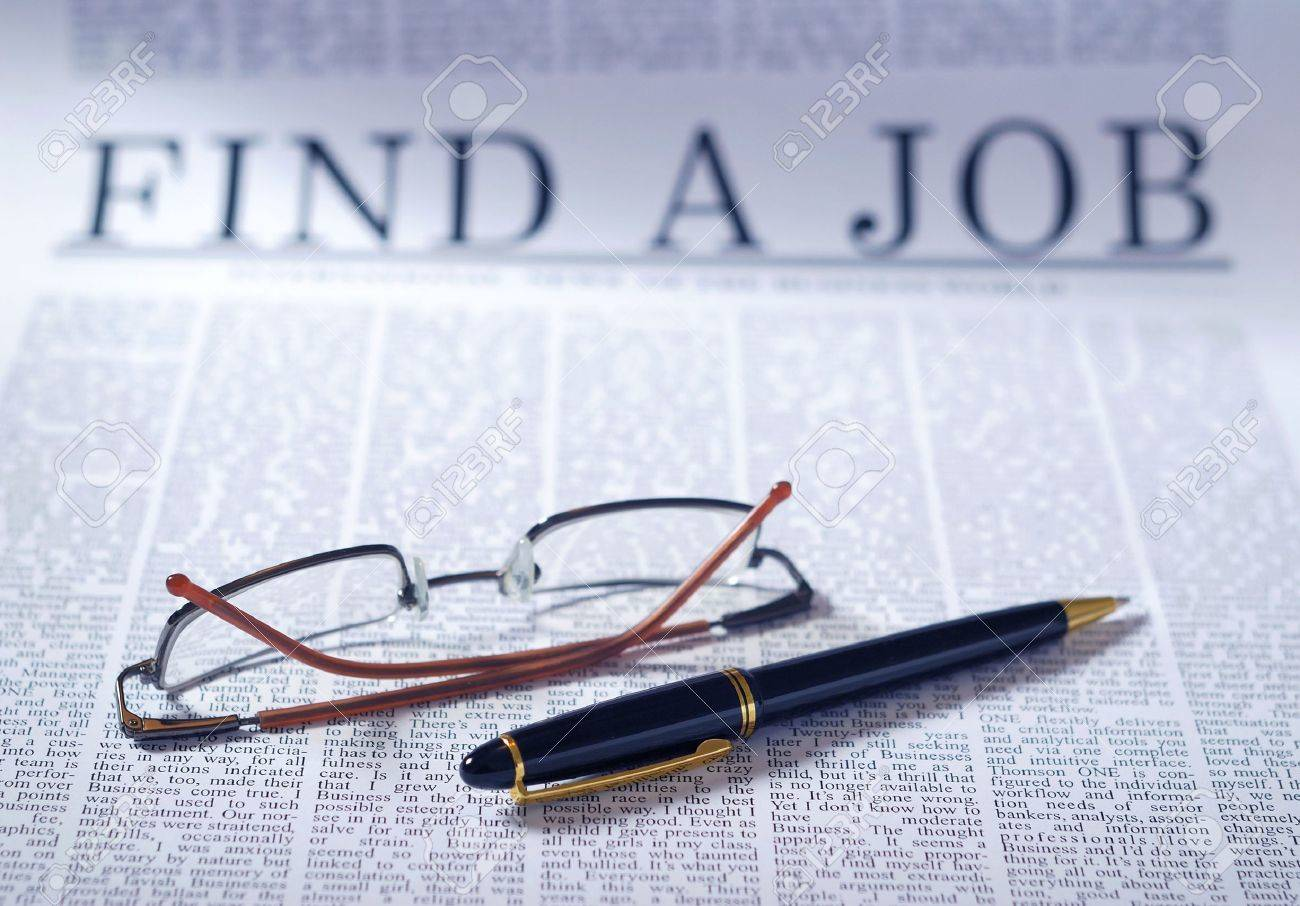 finding a job on a newspaper searching interview information finding a job on a newspaper searching interview information note