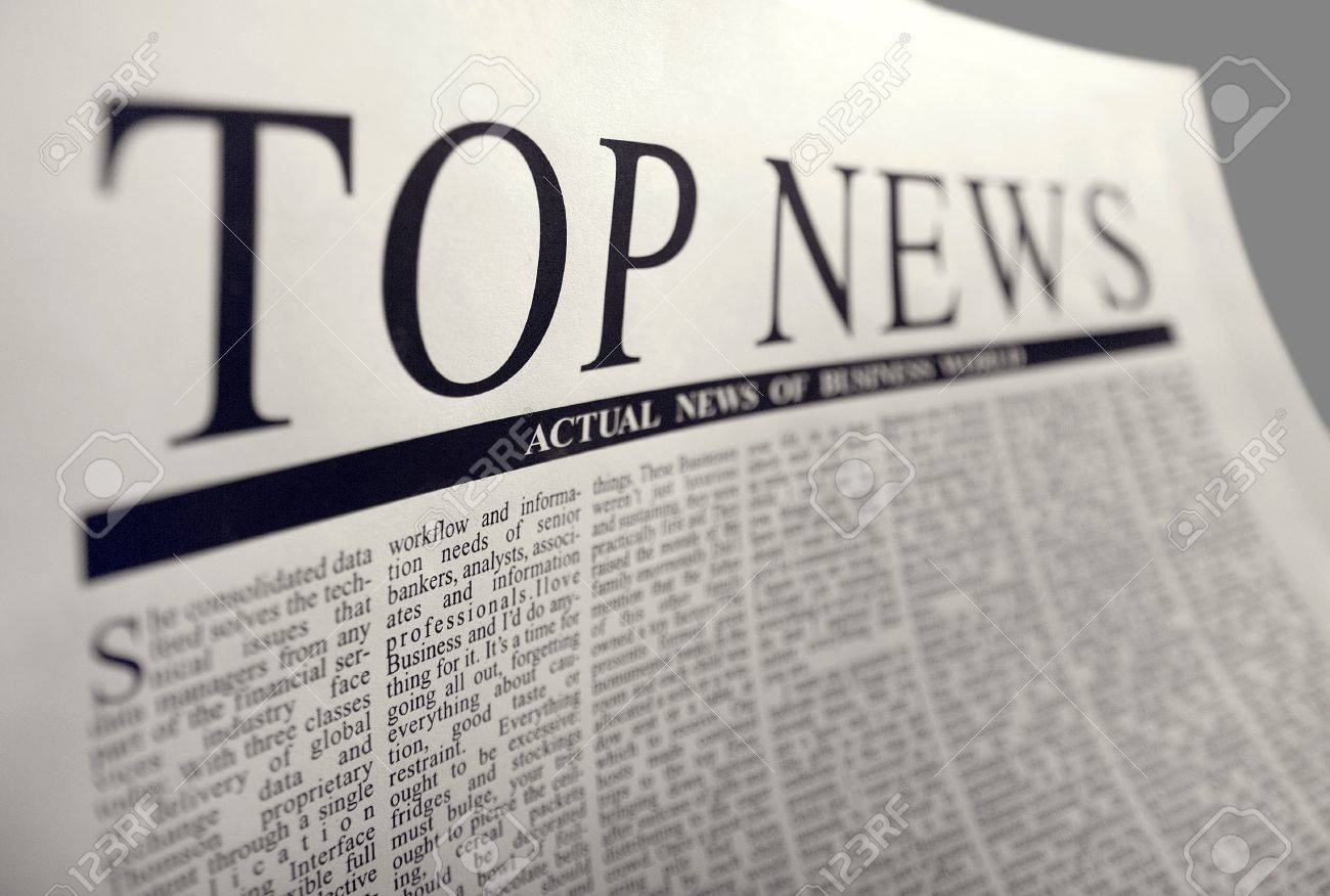 top news on a newspaper page. this is not trade mark. Stock Photo - 4360128