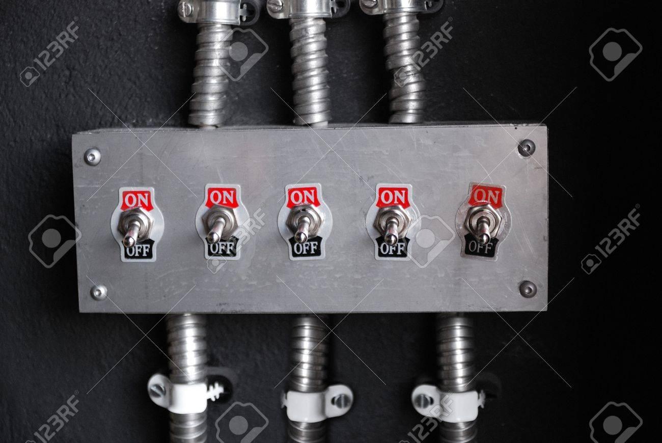 retro power switch on off, voltage device Stock Photo - 4826797