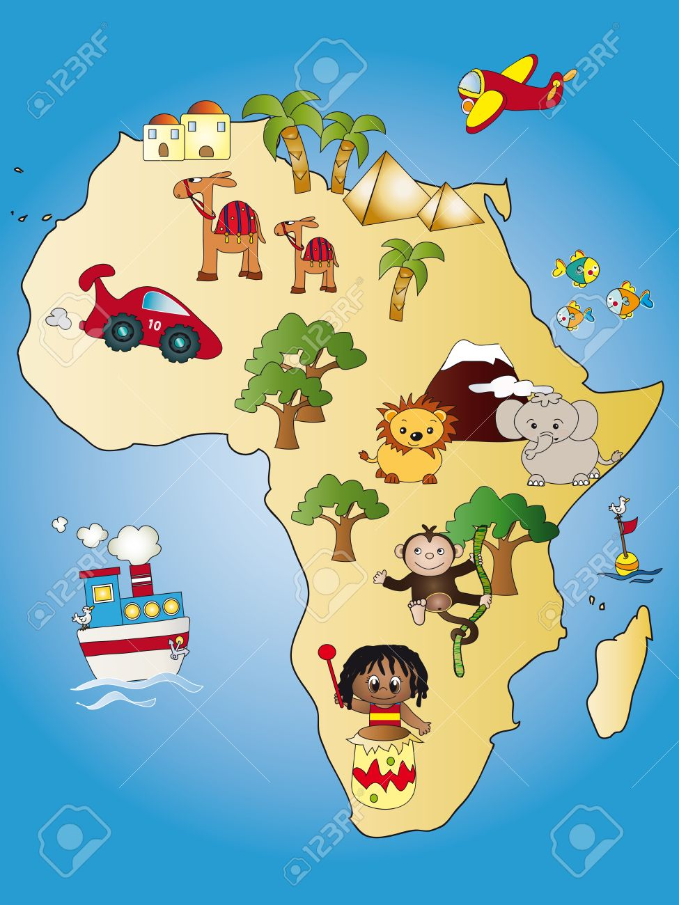 Africa Map Stock Photo Picture And Royalty Free Image Image 14030821
