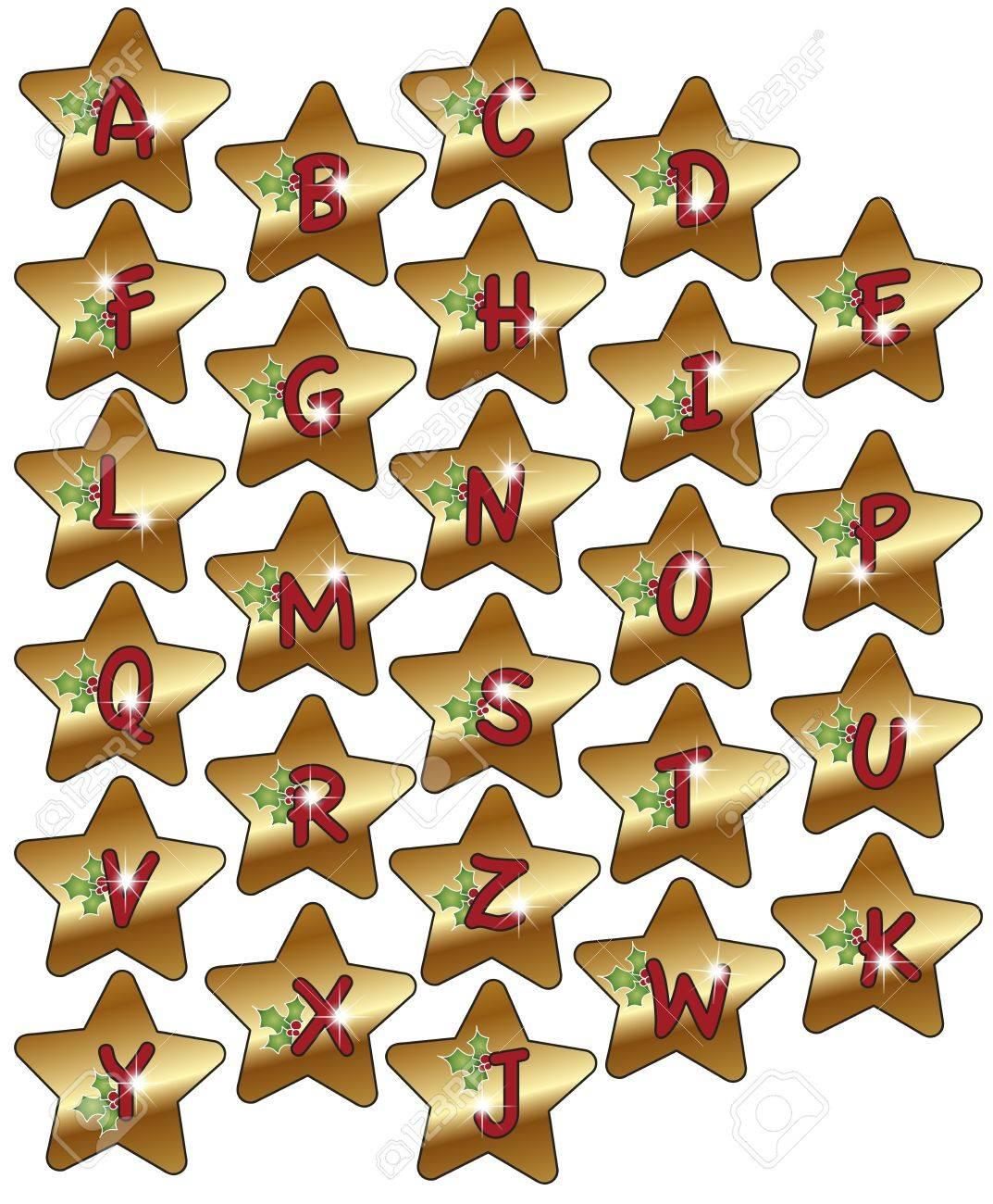 alphabet christmas Stock Photo - 15790100