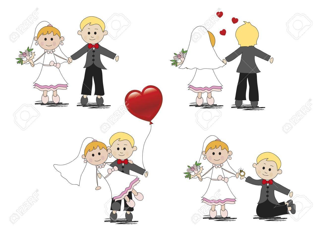 Banque d\u0027images , Illustration de dessin animé et de mariage drôle