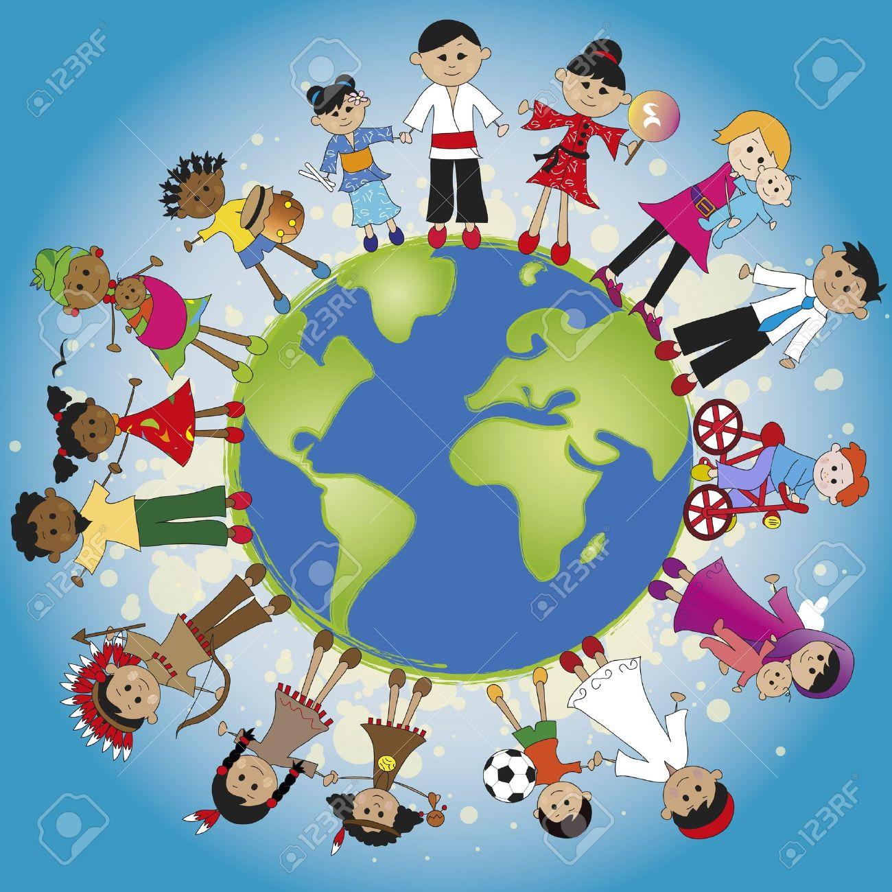 family around the world Stock Photo - 20134951