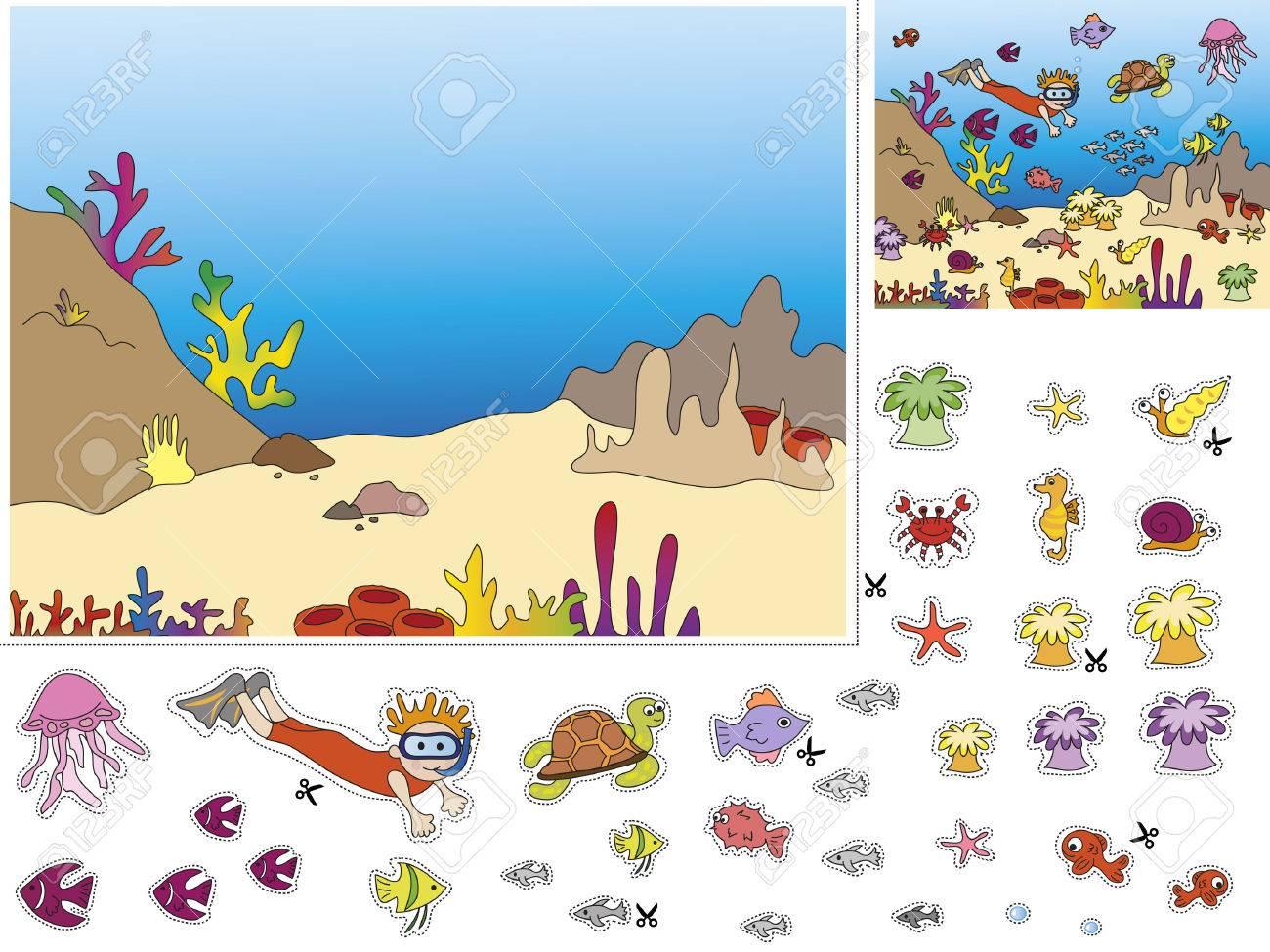 Lieblings Spiel Für Kinder Ausschneiden Und Einfügen Lizenzfreie Fotos &TF_53