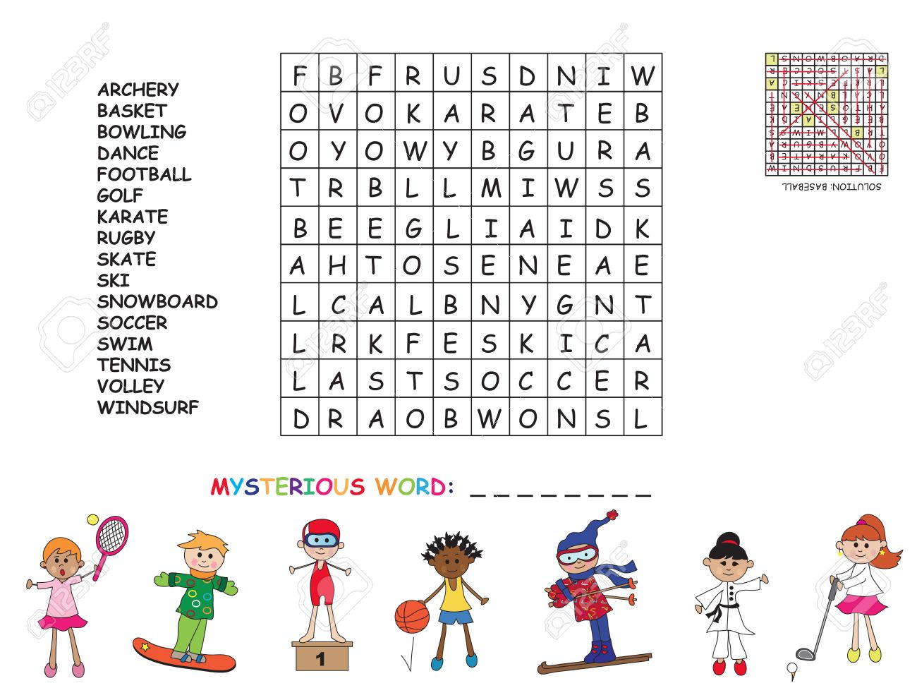 Game For Children Find All Words horizontal Vertical And Diagonal